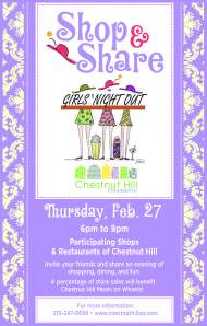 Girls Night Out Shop and Share Poster